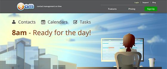 8am website header